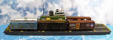 169' 3 TRACK CARFLOAT HO Model Railroad Waterline Hull Resin Boat Ship Kit FR152