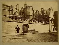 France, Paris, Hôtel de Cluny  Vintage albumen print.  Tirage albuminé  20x2