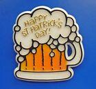 American Greetings PIN St Patrick Vintage BEER MUG Happy Day Irish Brooch
