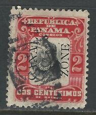 Bigjake: Canal Zone #21, 2 cent Cordoba with overprint reading up