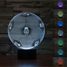 New Real Madrid 3D Football Night Light 7 Color Change LED Table Lamp  Gift Toys