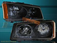 2003-06 SILVERADO / 2003-06 AVALANCHE CRYSTAL BLACK HEADLIGHTS AMBER