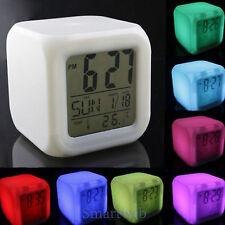 Digitaler Wecker Farbwechsel Tischwecker Reisewecker Digitale Uhr Temperatur