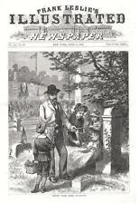 Twenty Years After  -  Decoration Day  -  Original Antique Print   -   1881
