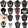 Bohemia Statement Women Choker Chunky Bib Alloy Charm Pendant Necklace Jewelry
