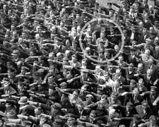 Man refusing the Nazi Salute German Hitler Rally 8x10 World War II WW2 Photo 631