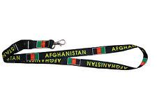 AFGHANISTAN BLACK COUNTRY FLAG LANYARD KEYCHAIN PASSHOLDER .. NEW