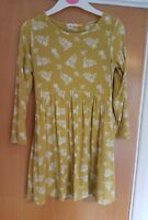 girls JOHN LEWIS yellow dress age 3 4 stretch tunic