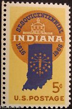 Stamp US 5c Indiana Sesquicentennial, Cat. #1308 Mint NH/OG