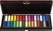 Rembrandt Artists Soft Pastels - 30 Half Size Pastels - Wooden Box Set