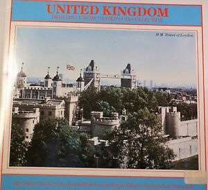 1987 United Kingdom Mint Set Brilliant Uncirculated 7 Coins Total Royal Palace