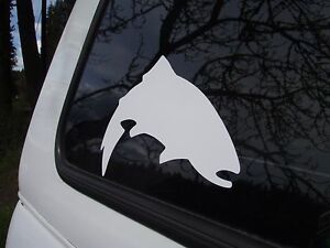 SIMMS Fishing Products Authentic (not a fake reprint) White Trout sticker
