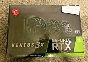 MSI NVIDIA GeForce RTX 3060 VENTUS 3X OC 12GB GDDR6 Graphics Card (NON TI)