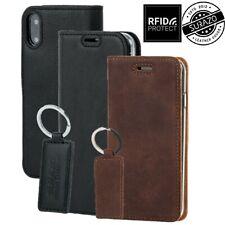 SURAZO® SMART MAGNET Étui en cuir véritable, housse de téléphone portable RFID