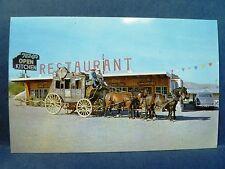 Postcard AZ Tomstone Old Modoc Stage Coach Teddy's Open Kitchen Restaurant 1950s