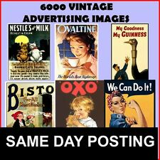 Over 6,000+ Vintage Advertising Images (Free UK Delivery)