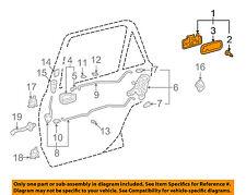 TOYOTA OEM 98-02 Corolla Rear Door-Handle Outside Exterior Left 6924002030