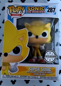 Funko Pop Sonic the Hedgehog 287 Super Sonic with Ring GENUINE Vinyl Figure