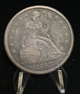1859 O Seated Liberty Silver S$1 One Dollar Coin