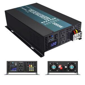 5000W  24V DC to 120V AC Pure Sine Wave power Inverter RV/Truck/Car/Home Solar