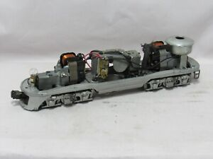 LIONEL 2343 DUAL MOTOR SILVER CHASSIS WITH HORN - CLEAN, RUNS