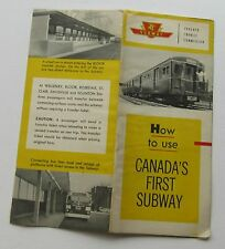 Vintage Brochure On How To Use Canada's First Subway