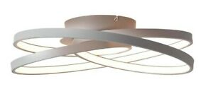 LED Deckenleuchte Wohnzimmer Leuchte Deckenlampe 42 Watt 4775 lm Grau Ø 40 cm
