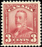 Mint NH Canada F+ Scott #151 3c 1928 KGV Scroll Issue Stamp