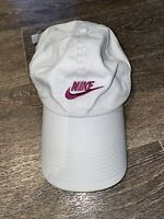 Vintage Retro Nike Cap White Embroided Spell Out Swoosh Adjustable Strap 90s 2YK