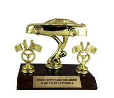 Stock Car Trophy- Track- Custom- Racing- Laps- Desktop Series- Free Lettering