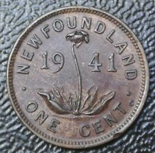 1941 NEWFOUNDLAND - ONE CENT - PENNY - George VI - WWII era - Beautiful Coin