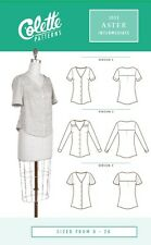 Colette SEWING PATTERN 1032 Aster Blouse Sizes 0-26