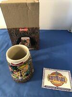 Budweiser Luck Of the Longneck Beer Stein Mug w/ Box 1997 St Patrick's Irish