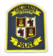 Columbus Indiana Police Uniform Aufnäher USA Polizei Emblem Patch Bügelflicken