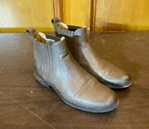 Frye Phillip Soft Gray Leather Chelsea Boots US Women's Size 9 Fast Shipping