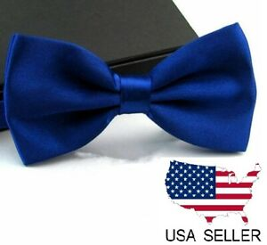 New Tuxedo PreTied Royal Blue Bow Tie Matching Adjustable Band Classic