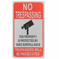 "No Trespassing Private Property Video Surveillance Metal Aluminum Sign 12"" x 18"""