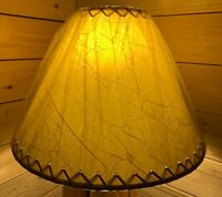 """PAIR (2 ea.) Rustic Crackled Lamp Shades with Suede Lacing - 18"""""""
