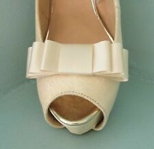 2 Nude Triple Bow Clips for Shoes - other colours on request