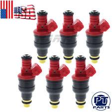 for Ranger B4000 Explorer 4.0L V6 19LB Fuel Injectors Set Of 6 4 hole nozzle