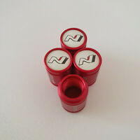HYUNDAI N LINE Red METAL SPORTS Valve Dust caps all Cars 7 COLORS UK DISPATCH