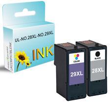 2 ink cartridge Replace for Lexmark X2500 X2510 X2530 X2550 X5070 28XL 29XL