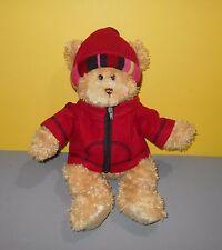 "Fashion Bug Brown Bear Wearing A Red Hat And Jacket Plush 16"" Stuffed Animal"