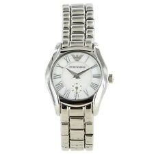 Emporio Armani Silver Mother of Pearl Quartz Analog Women's Watch AR0698