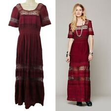 Free People Women's Small Red Mix in The Crochet Maxi Dress