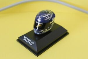 MINICHAMPS 1:8 SCALE SEBASTIAN VETTEL HELMET COLLECTION - MONACO 2010