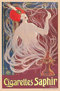 Print Poster Vintage Smokes Ad Art deco Canvas  Framed
