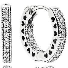 PANDORA Ohrringe Kreolen Earrings 296317 CZ Silber
