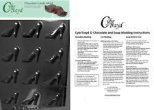 Bite Size High Heel Shoes Chocolate Candy Mold In Sealed Poly Bag w/Instructions