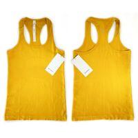Lululemon Women's Size 6 8 Swiftly Tech Racerback Tank Top Honeycomb Gold Yellow
